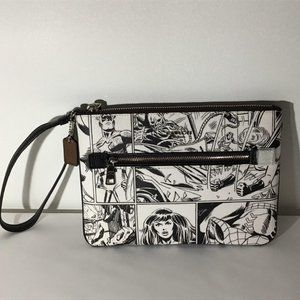 Coach Marvel Gallery Pouch With Comic Book Print